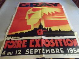AFFICHE ANCIENNE FOIRE DE GRAY 1954 - Andere