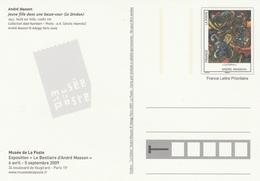 ENTIER Du MUSÉE De La POSTE - André MASSON JEUNE FILLE Dans Une BASSE COUR - LE DINDON - Postal Stamped Stationery