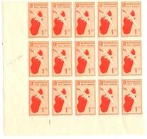 Madagascar Poste Aérienne Maury  N° 4 En Bloc De Quinze Timbres Neufs ** MNH. TB. A Saisir! - Madagascar (1889-1960)