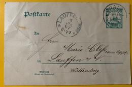 9987 - Entier Postal Duala 8.06.1906 Pour Lauffen 1.07.1907 - Colony: Cameroun