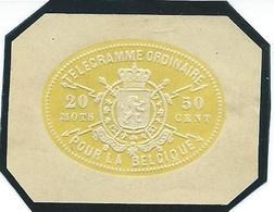 Telegramzegel Uit Telegramdocument 50C - Télégraphes