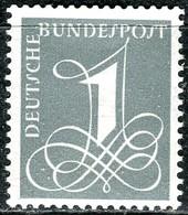 BRD - Mi 285 X - ** Postfrisch (B) - 1Pf  Zifferzeichnung - Unused Stamps