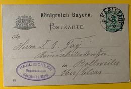 9995 - Entier Postal  Karlstadt 21.03.1895 - Stamped Stationery