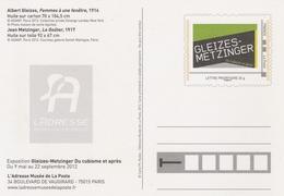 ENTIER Du MUSÉE De La POSTE - GLEIZES / METZINGER - FEMME à Une Fenêtre... - Postal Stamped Stationery