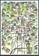 CP  Japon, Cartographie Touristique,Kyoto. Explicatif Au Dos En Japonais - Cartes Géographiques