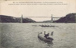 56 - La Roche-Bernard (Morbihan) - Le Pont Suspendu (en Aval) - La Roche-Bernard