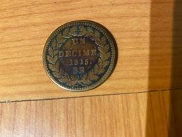 1- UN DECIME 1815 -BB-     ( Port Offert ) - France