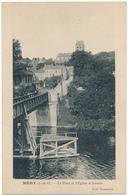 MERY SUR OISE - Le Pont Et L'Eglise D'Auvers - Mery Sur Oise