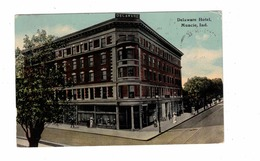 MUNCIE, Indiana, USA, Delaware Hotel, 1912 Knox Postcard - Muncie