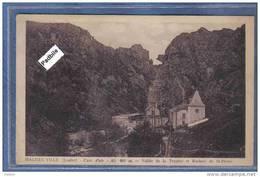 Carte Postale 48. Malzieu Ville   Vallée De La Truyère Et Rochers De St-Pierre Trés Beau Plan - France
