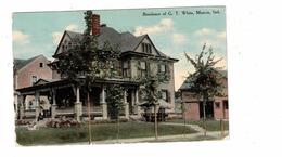 MUNCIE, Indiana, USA, Residence Of G. T. White, 1912 Knox Postcard - Muncie