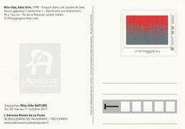 """ENTIER Du MUSÉE De La POSTE - NILS UDO - NATURE - Coulée De Lave - Fleurs """"lanternes"""" - Postal Stamped Stationery"""