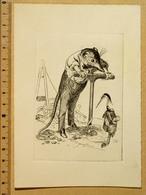 Gravure 11x16 Cm: Caricature Louis-Georges Mulot (1792-1872), Forage Du Premier Puits Artésien De Paris, 1833-1841. TBE - Engravings