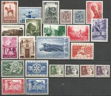 (E066) BELGIQUE - Année Complète 1954 N°938à960* - Namur, Marche-les-Dames, Breendonck, Béguinage Bruges, Rotary,... - Bélgica