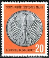 BRD - Mi 291 - ** Postfrisch (E) - 20Pf              10 Jahre Deutsche Mark - Unused Stamps