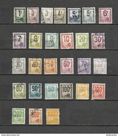 Colis Postaux - Petit Colis  - 28 Timbres De La Série - Cote 131e - Spoorwegzegels