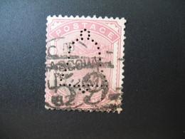 Perforé Perfin Lochung , Great Britain - Grande Bretagne See, à Voir (See The Initial - Drawing) - Grossbritannien