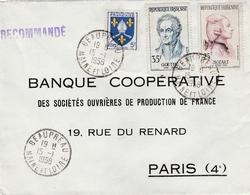 Sur Recommandée  ,Yvert  1005 Saintonge -1137 Mozart Et  1138 Goethe De Beaupréau Maine Et Loire - Storia Postale