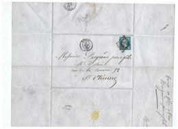 LETTRE DEPART  GANGES Pour St ETIENNE 1860 - Marcophilie (Lettres)