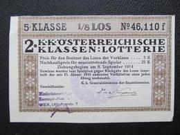 LOS Lotterie Lotterielos Österreich Austria ///  D*42466 - Lotterielose