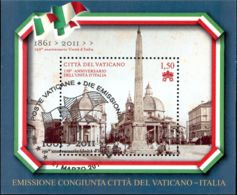 Vatican 2011 Mi# Block 35 Used - 150th Anniv. Of Unification Of Italy - Gebraucht