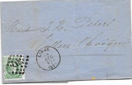 Factuurbrief Met Pt 217 En Enkelcirkel Liege En Aankomst Fexe-le-haut- Clocher - Enveloppes-lettres