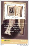 2003 - ITALIA (49) - TESSERA FILATELICA  BERNARDINO RAMAZZINI - 6. 1946-.. Republic