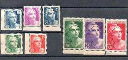 St022  Marianne Gandon Gravees 725-733 * - Unused Stamps