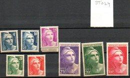 St024  Marianne Gandon Gravees 725-733 * - Unused Stamps