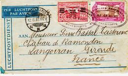 Indonésie Et Nouvelle Caledonie, Affranchissement Mixte En Juin 1931 Pour Langoiran - Indonesien