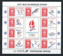 France   Y&T   BF  14   XX    ---   JO Hiver  Albertville 1992 --  Excellent état. - Ungebraucht