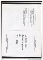 Belgie Literatuur 9blz L/R  StudieLa Poste Belge Durant La Guerre 1914-1919 (1914-1918) 9 Pages (copie) - Ohne Zuordnung