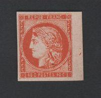 N° 5 40 C Cérès Tirage De FOURNIER Ce Timbre Est Toujours Sans Gomme - 1849-1850 Cérès