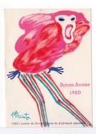 CPM - BONNE ANNÉE 1980 / L'ANNÉE DU SINGE - Anno Nuovo