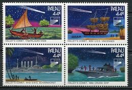 Palau Mi# 97-100 Postfrisch MNH - Ships Space Halley's Comet - Palau