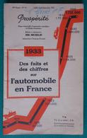 Brochure Prospérité Des Éditions Michelin - Faits Et Chiffres Sur L'Automobile En France En 1933 - Auto