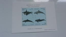MONACO 1994 (cote 17,50**) Cétacés: ORQUE,DAUPHIN... - Blocs