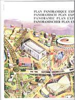 Expo 58 - Plooifolder Panoramisch Plan Expo 58 - Advertising