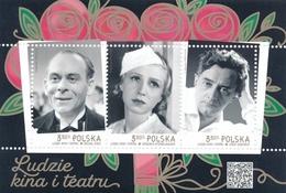 Poland 2019 - Mint MNH ** - Souvenir Sheet - Cinema --- Block Kino , Pologne Polen Polonia --- 438 Zn - 1944-.... République