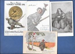 ABEL FAIVRE - Lot 4 Cpa Illustrées GUERRE 14/18 - Faivre