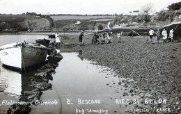 (138) CPA Photo   Riec Sur Belon  Etablissement Ostreicole B . Bescond  Beg  Lanneguy  (Bon Etat) - Autres Communes