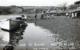 (138) CPA Photo   Riec Sur Belon  Etablissement Ostreicole B . Bescond  Beg  Lanneguy  (Bon Etat) - Frankrijk