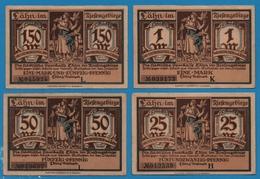 LÄHN IM RIESENGEBIRGE 1x25pf, 1x50pf, 1x1mk, 1x1.5mk  No Date (1922)  NOTGELD - [11] Emissions Locales