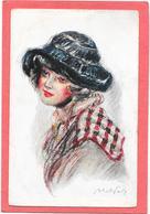 ABEL FAIVRE - Figure De Femme Au Chapeau En Laine - Faivre