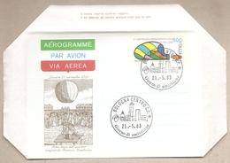 Italia - Aerogramma FDC: Voli In Pallone - 1983 - 1946-.. République