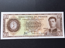 PARAGUAY P197 50 GUARANIS 1952 UNC - Paraguay
