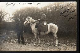 77, Monthyon, Carte Photo, Officier à Cheval Et Son Aide De Camp - Francia