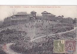 Cpa-asie -viet Nam-tonkin-langson-poste Militaire Dans La Region Du Yen Thé - Viêt-Nam