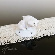 Demi Figurine Ancienne Allemande Cochon Miniature Biscuit Goebel 1930 Art Deco - Ceramics & Pottery