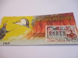 Loterie Nationale / Pupilles Des Sapeurs Pompiers/ Courage Et Dévouement/ 1961       LOT49 - Lottery Tickets